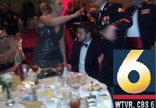 Justin Timberlake Kickass Celeb Marine Corps Ball - 5430773760