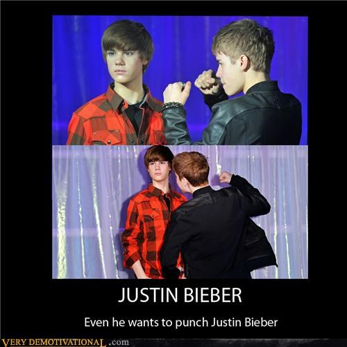 hilarious,justin bieber,punch,wax