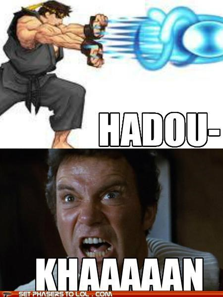 hadouken,ken,khan,Shatnerday,Star Trek,Street fighter,William Shatner