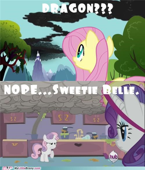 comics,cooking,dragon,rarity,smoke,Sweetie Belle