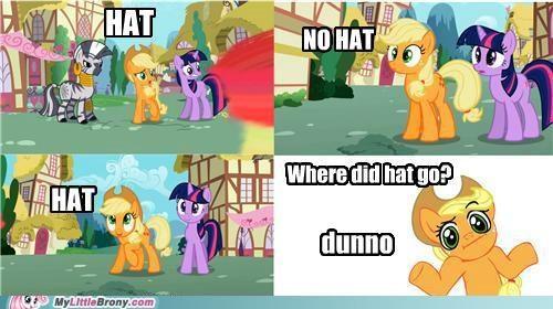 applejack continuity hat i dunno lol ponies - 5431430144