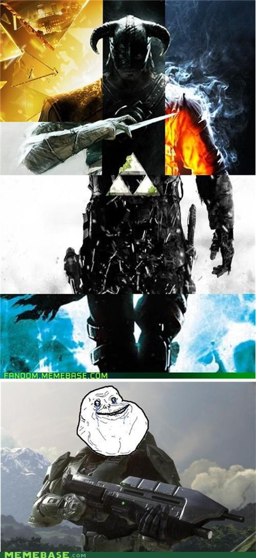 forever alone halo Skyrim video games - 5431613184