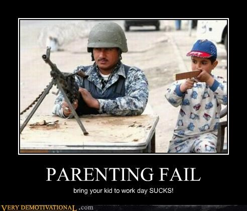 army bad idea hilarious kids Parenting Fail