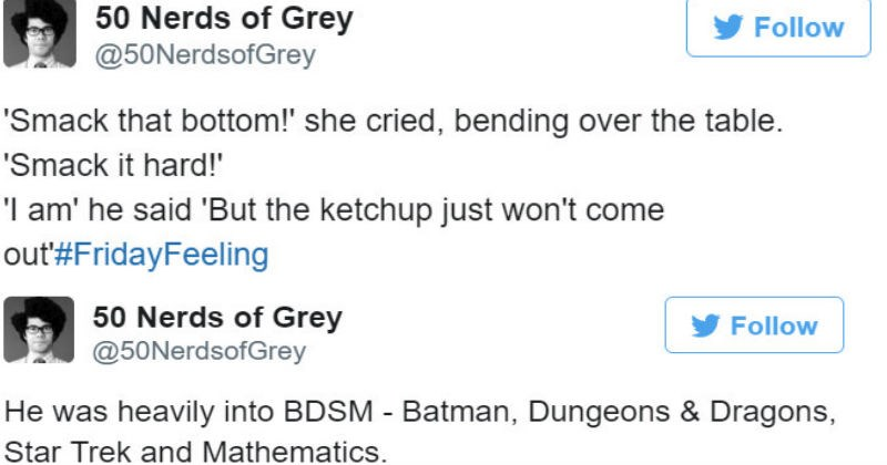 twitter nerds trolling fifty shades of grey ridiculous funny - 5432837