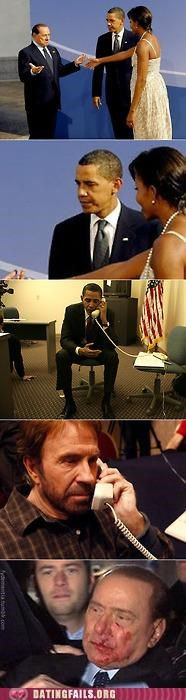 chuck norris comic Michelle Obama obama We Are Dating - 5433115904