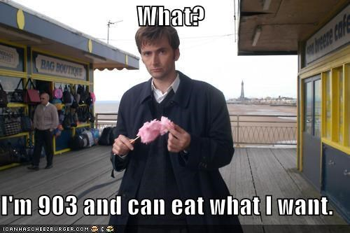 cotton candy David Tennant doctor who eating Time lord - 5433156864