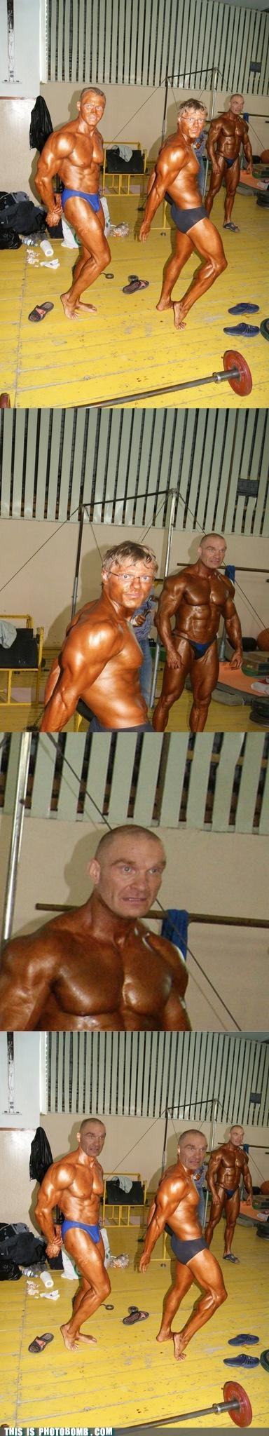 body builders,Reframe,scariest thing,scary,tan,working out