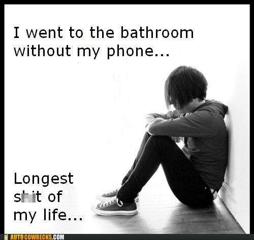 AutocoWrecks emo First World Problems mobile phone poop Sad - 5433751040