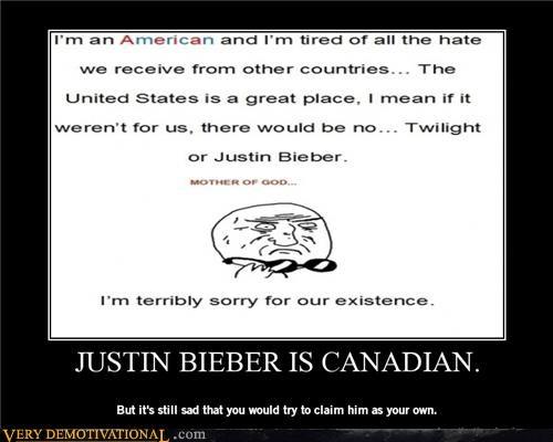 Justin Bieber Isn't American.