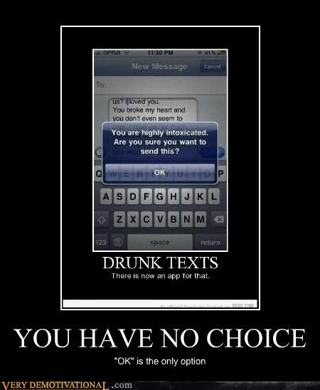 """YOU HAVE NO CHOICE """"OK"""" is the only option"""