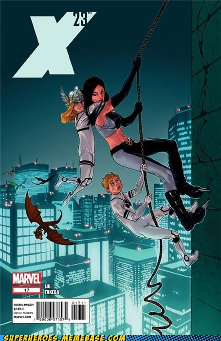 adventures in baby sitting,cover art,Straight off the Page,x-23