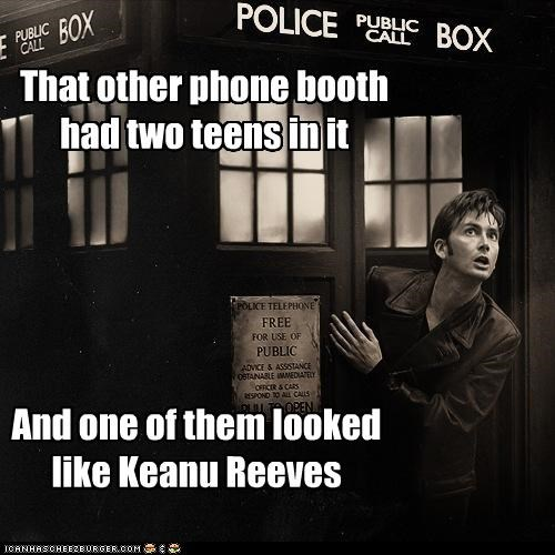 bill and ted,David Tennant,doctor who,keanu reeves,phone booth,tardis