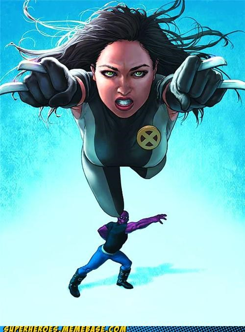 Awesome Art toss me x-23 x men