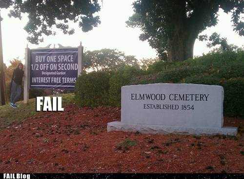 cemetery,irony,marketing,Professional At Work