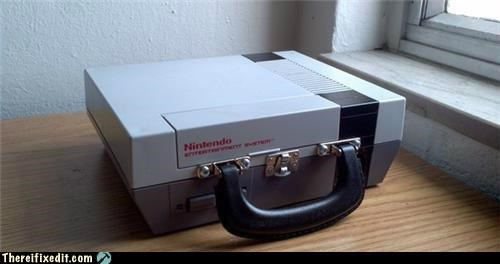 briefcase dual use nintendo not a kludge video games - 5435001088