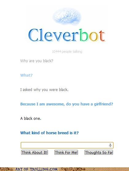 black,Cleverbot,girlfriend,horse