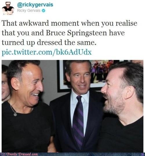 brian williams,bruce springsteen,dressing the same,ricky gervais,the Boss