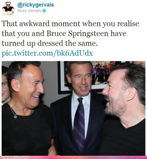 actor bruce springsteen celeb funny Music ricky gervais twitter - 5435125504