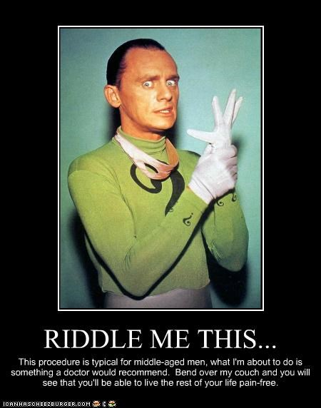 creepy prostate exam Riddler Super-Lols - 5435173632