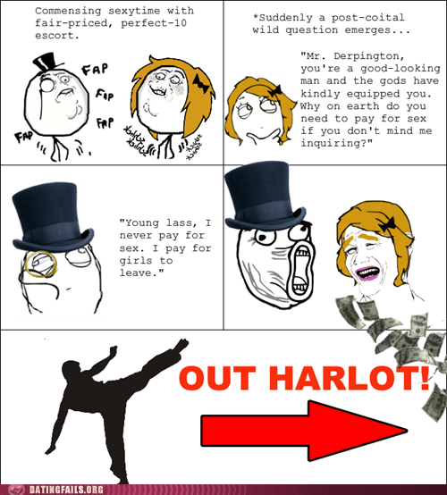 comic escort harlot paying prostitution rage comic We Are Dating - 5435262720