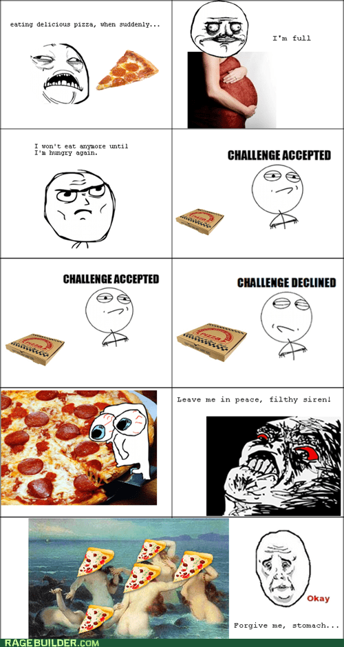 hunger pizza Rage Comics siren - 5435274752
