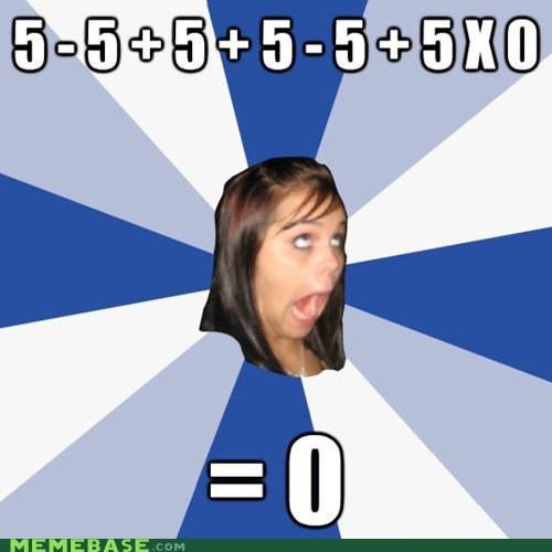 0 5 annoying facebook girl math pemdas poll troll - 5435334656