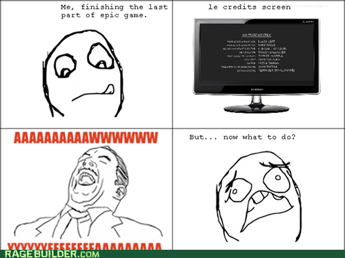 credits,finish,Rage Comics,video games
