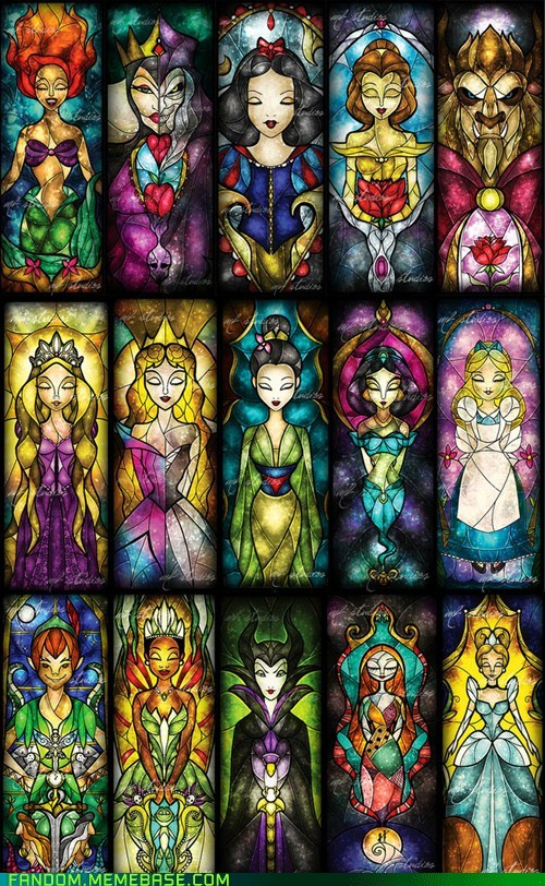 awesome disney disney princesses Fan Art glass - 5435365888