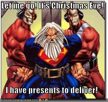 christmas,santa,Super-Lols,superman