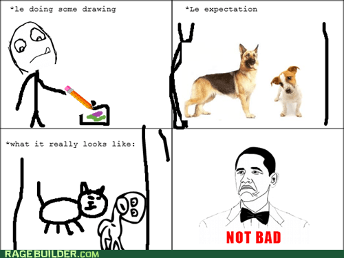 expectations,not bad,Rage Comics,reality