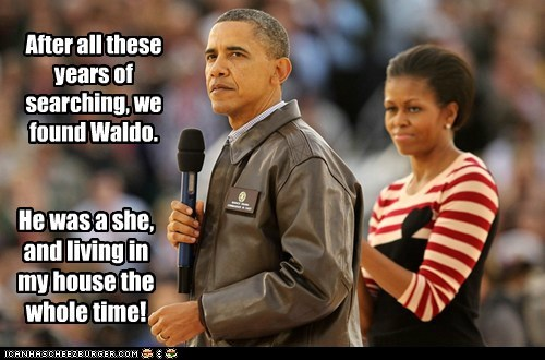 barack obama Michelle Obama political pictures waldo - 5435481088
