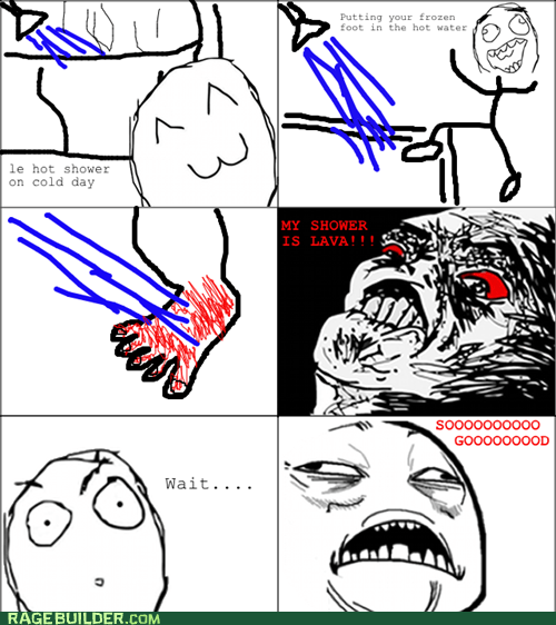 bath lava Rage Comics shower - 5435508992