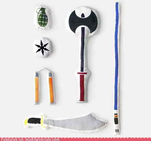 best of the week fabric pillows soft stuffed weapons - 5435517440