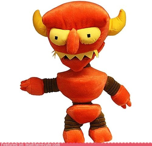 cartoons,figurine,futurama,Plush,robot devil,toy,TV