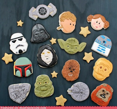 cookies,decorated,epicute,icing,star wars