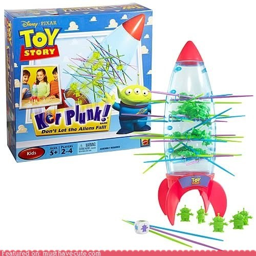 Aliens game kerplunk rocket sticks toy toy story - 5435532032