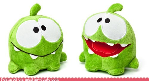 candy character cut the rope game om nom Plush