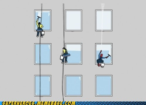 Awesome Art,Spider-Man,window washer