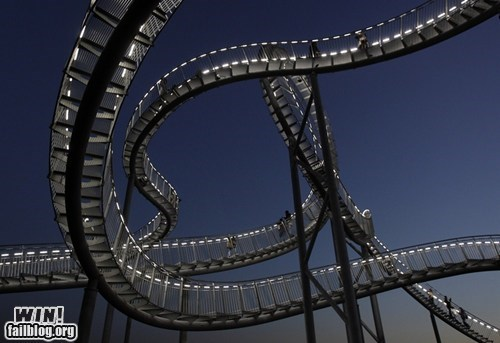 art design installation roller coaster sculpture stairs steps walking whee - 5435594240