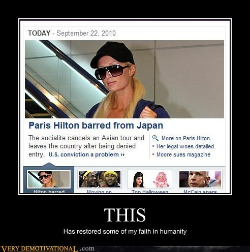 barred,Japan,paris hilton,Pure Awesome