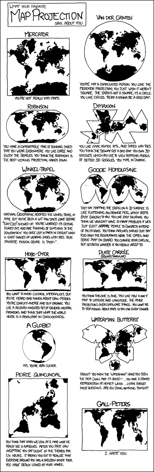 Maps,projections,xkcd