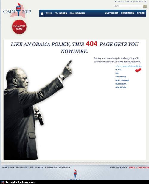 404,barack obama,herman cain,political pictures