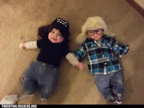 baby,costume,halloween,Parenting Fail,parenting WIN,party on,waynes world
