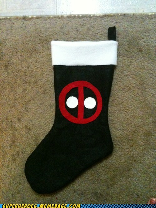 awesome,Awesome Art,christmas stocking,craft,deadpool