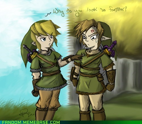 Fan Art,link,Skyward Sword,twilight princess,video games,zelda