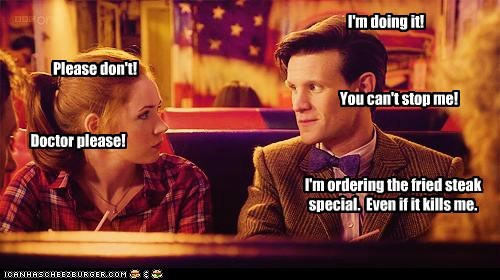 amy pond doctor who food karen gillan Matt Smith the doctor - 5436212224