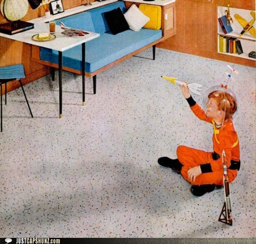 astronaut caption contest child imagination life on mars outer space playing space toy vintage