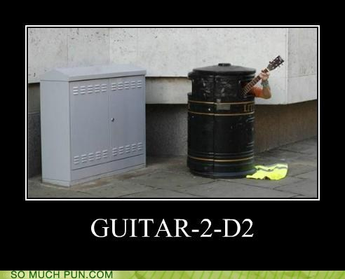 guitar lolwut r2d2 resemblance similar sounding star wars trashcan