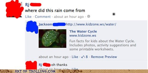 anti joke chiken,facebook,rain,the water cycle