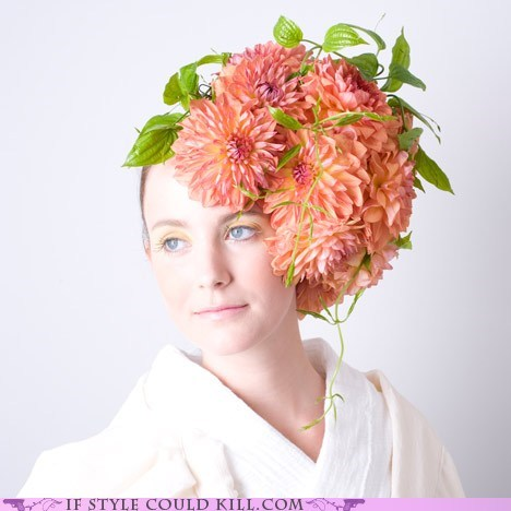 cool accessories,fascinators,floral,flowers,hats,ikebana,Japan,takaya